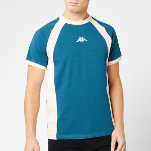 Kappa Men's Authentic 90 Bormio Short Sleeve T-Shirt - Petrol/Pink