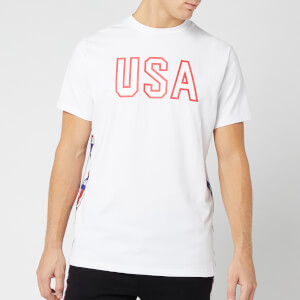 Kappa Men's Authentic La Barwa Short Sleeve T-Shirt - White/Blue