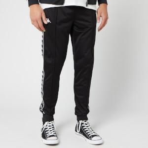 Kappa Men's 222 Banda Rastoria Slim Poly Track Pants - Black/White