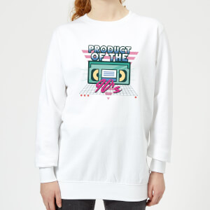 Product Of The 90's VHS Tape Women's Sweatshirt - White