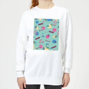 90's Funky Pattern Women's Sweatshirt - White