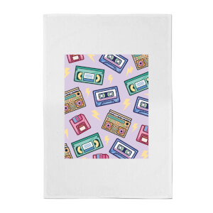 90's Product Scattered Pattern Cotton Tea Towel