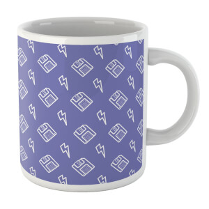 Floppy Disc Pattern Purple Mug Mug
