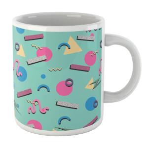 90's Funky Pattern White Mug Mug