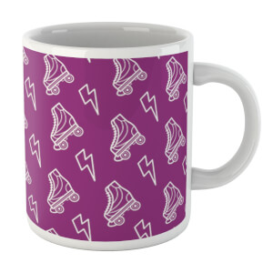 Roller Skate Pattern Purple White Mug Mug