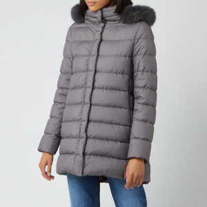 Herno Women's Padded Half Coat - Grey