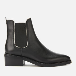 Coach Women's Bowery Beadchain Leather Ankle Boots - Black