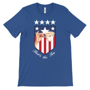 'That's the Tea' USA World Cup Badge T-Shirt - Blue