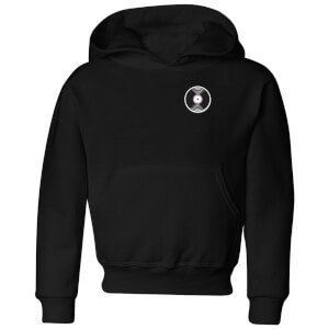 Small Vinyl Record Kids' Hoodie - Black
