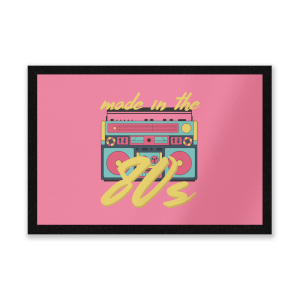 Made In The 80s Boombox Entrance Mat