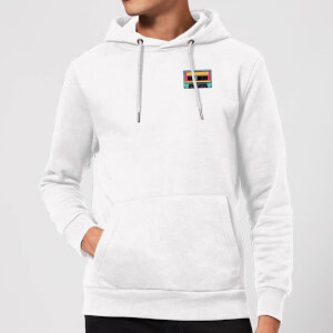 Small Tape Hoodie - White