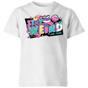 Stay Weird Kids' T-Shirt - White