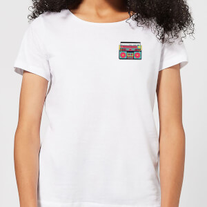 Small Boombox Women's T-Shirt - White