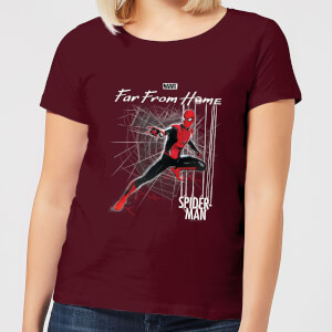 Spider-Man Far From Home Web Tech Women's T-Shirt - Burgundy