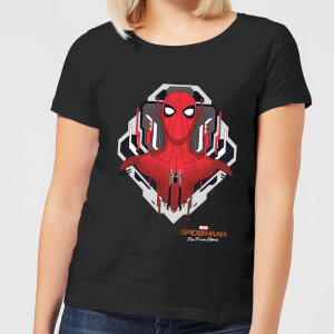 Spider-Man Far From Home Web Tech Badge Women's T-Shirt - Black