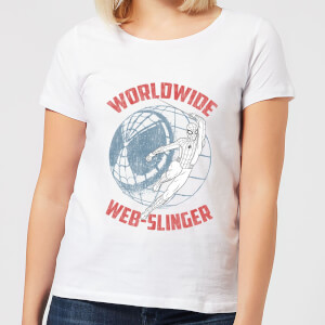 Spider-Man Far From Home Worldwide Web Slinger Women's T-Shirt - White