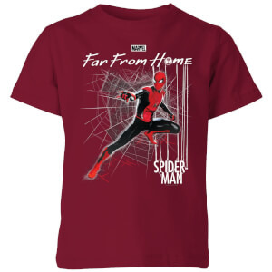 Spider-Man Far From Home Web Tech Kids' T-Shirt - Burgundy