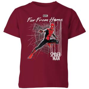 Spider-Man Far From Home Web Tech Kids' T-Shirt - Burgundy