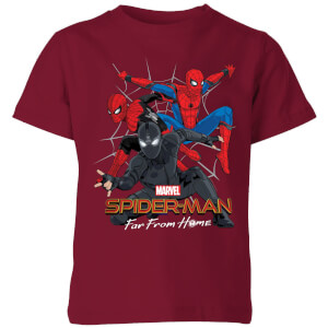 Spider-Man Far From Home Multi Costume Kids' T-Shirt - Burgundy