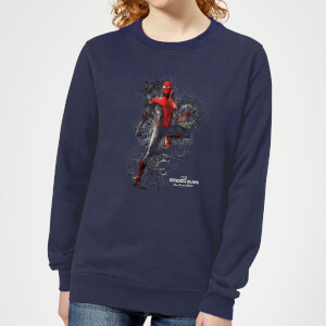 Spider-Man Far From Home Upgraded Suit Women's Sweatshirt - Navy