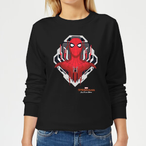 Spider-Man Far From Home Web Tech Badge Women's Sweatshirt - Black