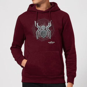 Spider-Man Far From Home Web Icon Hoodie - Burgundy