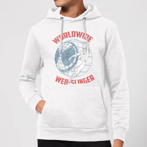 Spider-Man Far From Home Worldwide Web Slinger Hoodie - White