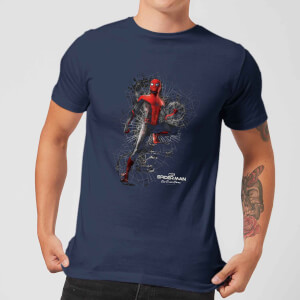 Spider-Man Far From Home Upgraded Suit Men's T-Shirt - Navy