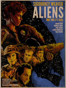 Aliens 'This Time it's War' 13 x 19 Inch Limited Edition Giclee Print by J.J. Lendl
