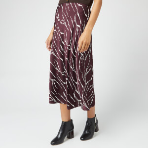 Whistles Women's Twig Silk Bias Skirt - Burgundy