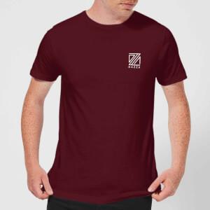 Dazza Pocket Text Men's T-Shirt - Burgundy