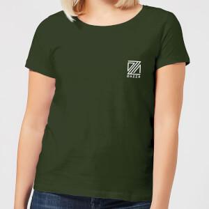 Dazza Pocket Text Women's T-Shirt - Forest Green