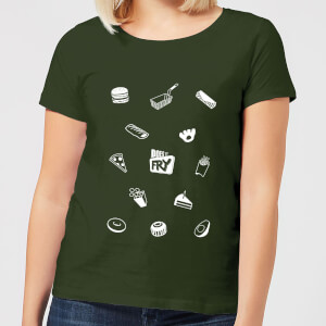 Does It Fry Pattern Women's T-Shirt - Forest Green