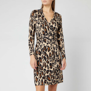 Diane von Furstenberg Women's New Jeanne Two Dress - Leopard Cat Sand