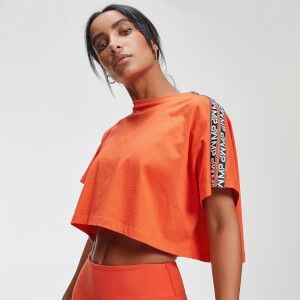 T-Shirt Crop Top Power - Orange Flamme