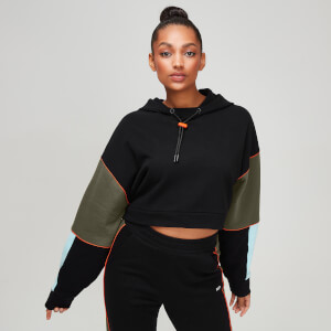 Rest Day Women's Cropped Hoodie - Black