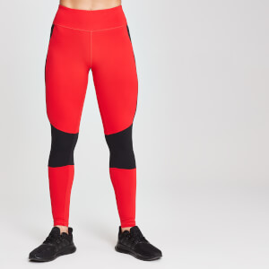 MP Damen Colour Block Branded Sports Leggings - Danger