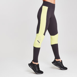 MP Damen Colour Block Branded Sports Leggings - Slate