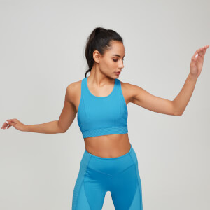 MP Textured Training Women's Sports Bra - Blå