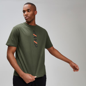 T-Shirt Graphic Rest Day da uomo - Verde militare
