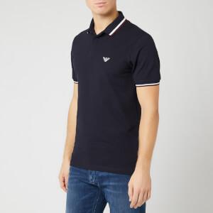 Emporio Armani Men's Embroided Logo Polo Shirt - Navy
