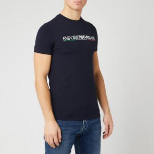 Emporio Armani Men's Italy Logo T-Shirt - Navy