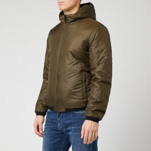 Emporio Armani Men's Reversible Hooded Padded Jacket - Khaki