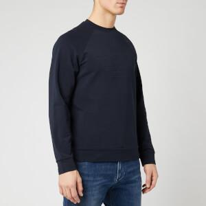 Emporio Armani Men's Embossed Eagle Sweatshirt - Navy