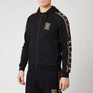 Emporio Armani Men's Sleeve Logo Hoody - Black