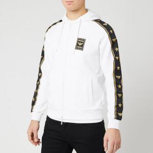 Emporio Armani Men's Sleeve Logo Hoody - White