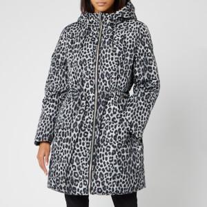 MICHAEL MICHAEL KORS Women's Cheetah Reversible Puffer Coat - Gunmetal
