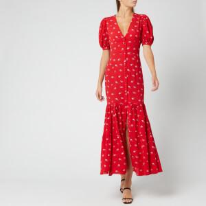 ROTATE Birger Christensen Women's Number 20 Dress - Poppy Red Combo