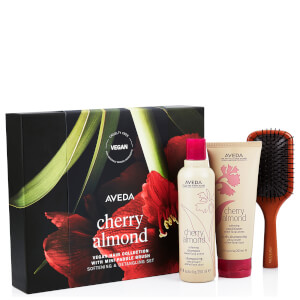 Aveda Cherry Almond Hair and Mini Paddle Brush 500ml