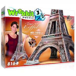 Wrebbit Eiffel Tower 3D Puzzle (816 Pieces)